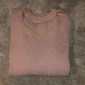 *worn once* mauve/blush colored stretchy sweater